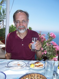 On Santorini last summer--a purchased experience.