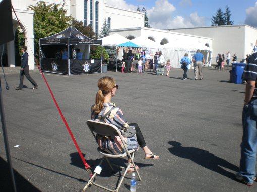 Mary Ritzema at the Greek Festival, Bellingham, Washington