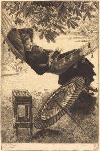 """The Hammock,"" by James Jacques Joseph Tissot.  Courtesy National Gallery of Art, Washington."