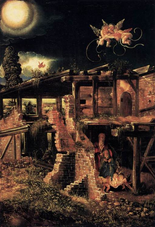 """The Nativity"" by Albrecht Altdorfer. God among the ruins."