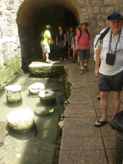 Emerging from Hezekiah's Tunnel