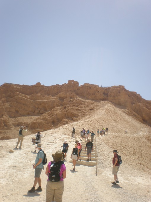Looking up the siege ramp towards Masada